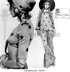 BIBA Pages from the 1968 catalogue of the London fashion store founded by Barbara Hulanicki - Stock Image