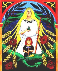 The goddess Earth appears in the Norse myths as Jord the mother of Thor. Jord seems to be a memory of the ancient middle eastern fertility goddess, the mother of all creation symbolised by corn, snakes, birds, lions and swastikas. There is no evidence that Jord was worshipped in the late Viking Age but her ancient importance and strong connections with the thunder god are frequently shown in Norse poetry.   The poppy as mentioned in Thunder 7 (thunder flowers of England) is sacred to both…