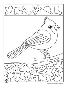 Winter Hidden Pictures Coloring Pages – Bird Supplies Bird Nest Craft, Bird Crafts, Coloring Pages Winter, Sudoku, Numbers Preschool, Hidden Pictures, Cardinal Birds, Winter Crafts For Kids, Bird Drawings