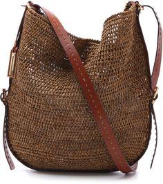 Michael Kors Collection Santorini Cross Body Bag in Brown - Lyst