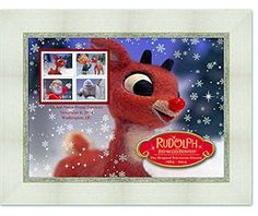 Amazon.com: Rudolph the Red Nosed Reindeer USPS Stamp Framed Art: Toys & Games Celebrate 50 years of the animated television classic with this USPS stamp framed art. This 9 x 7-inch framed piece features a block of four Rudolph the Red-Nosed Reindeer Forever® stamps. The stamps pair with an enlarged image of Rudolph that includes a special anniversary logo and the First Day of Issue details. http://www.amazon.com/dp/B0150L011Q/?tag=p1nt-20