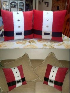 Discover recipes, home ideas, style inspiration and other ideas to try. Christmas Sewing, Noel Christmas, Christmas Ornaments, Christmas Cushions, Christmas Pillow, Christmas Projects, Holiday Crafts, Deco Originale, Xmas Decorations