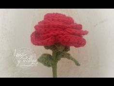 Tutorial Rosa Crochet Flor