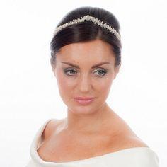 Medieval Inspired Pearl & Crystal Bridal Tiara from ayedo.co.uk