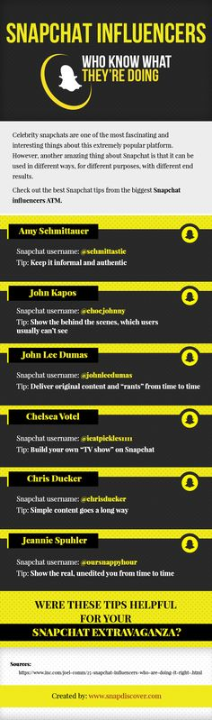 Celebrity snapchats are one of the most fascinating and interesting things about this extremely popular platform. However, another amazing thing about Snapchat is that it can be used in different ways, for different purposes, with different end results. Check out the best Snapchat tips from the biggest Snapchat influencers ATM.