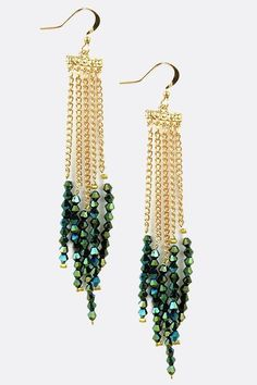 Swarovski Bicone Dangle Earrings