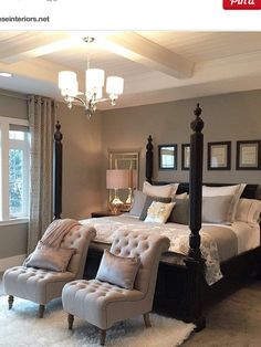 Stunning dark wood bedroom furniture ideas - Diy Tutorials - The Effective Pictures We Offer You About Master Bedrooms design A quality picture can tell you ma - Modern Master Bedroom, Master Bedroom Makeover, Master Bedroom Design, Home Bedroom, Bedroom Apartment, Contemporary Bedroom, Master Suite, Girls Bedroom, Master Master