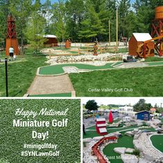 With our realistic artificial golf turf products, you can simulate a natural golf course anywhere! Contact SYNLawn Golf today for a free consultation! Golf Putting Green, Golf Day, Miniature Golf, Play Areas, Golf Clubs, Stepping Stones, Golf Courses, This Is Us, Paradise