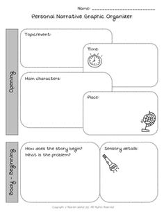 Personal Narrative Graphic Organizer - Upper Grades Are Awesome - TeachersPayTeachers.com