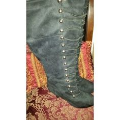 I just discovered this while shopping on Poshmark: Black knee-high boots. Check it out!  Size: 9