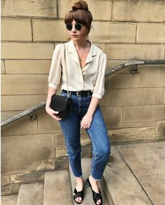 How to rock the casual chic look Look Boho, Look Chic, Look Fashion, Fashion Outfits, Fashion Trends, Fashion Women, Vintage Outfits, Vintage Fashion, Vintage Style