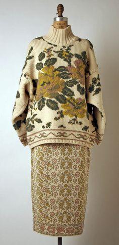 Ensemble Jean Paul Gaultier (French) ca. 1983 wool