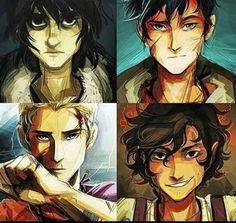 Percy Jackson, Leo Valdez, Nico Di Angelo and Jason.