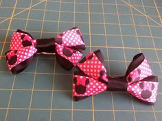 Minnie Mouse Bow Barrette by MeridaMerchandise on Etsy, $10.00