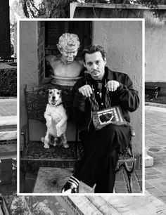 Johnny Depp poses with a pup inside Interview magazine.
