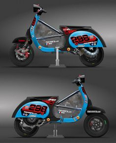 Mickaël Micucci's racer graphic design, Mavespa - Racing Team 2015 Challenge Scootentole season. Past models: http://www.antoinefleury.com/graphism_vespa_stickers.html