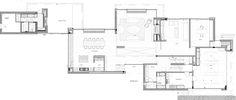 :: FLOOR PLANS :: Image Credit: Ensemble et Associes. Project: De Brouckère. Lovely master suite layout #floorplans