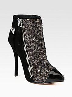 Jean-Michel Cazabat - Zoulu Tweed & Suede Ankle Boots