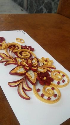 Quilling Wedding Invitation by Byushandmade on Etsy Making Wedding Invitations, Quilling Techniques, Surprise Gifts, Color Combinations, Card Making, How To Make, Handmade, Etsy, Hand Made