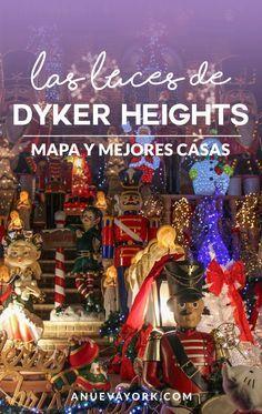 Cómo vistar las luces navideñas de Dyker Heights. Mapa, mejores casas y cómo llegar al barrio.
