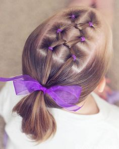 Cute Toddler Hairstyle For Medium Hair