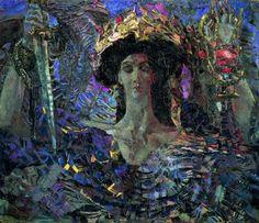 «Шестикрылый Серафим (Азраил)», 1904 (во время болезни) Михаила Врубеля