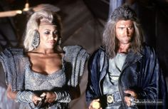 Mad Max Beyond Thunderdome publicity still of Mel Gibson & Tina Turner