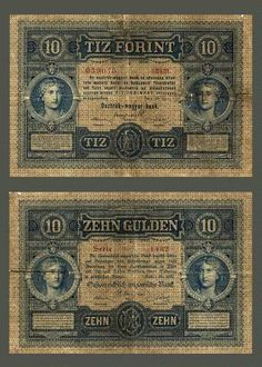 10 forint Retro 2, Old Money, World War I, Hungary, Troops, Old Photos, The Past, Retro Games, Banknote