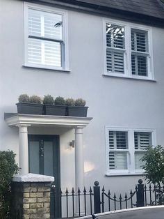 Ultimate Rose sash Windows in this gorgeous property! 1930s House Exterior, Terrace House Exterior, Victorian Homes Exterior, Modern Farmhouse Exterior, Cottage Exterior, House Paint Exterior, Upvc Sash Windows, Front Doors With Windows, House Windows