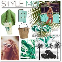 Beach Please! by carolinamizan on Polyvore featuring polyvore, fashion, style, H&M, Havaianas, Crate and Barrel and Free People