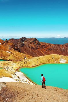 The Tongariro Alpine Crossing is famous for volcanic activity, its beautiful Emerald Lakes, and Maori religious sites. Click through to see more incredible landscapes in New Zealand! Oh The Places You'll Go, Cool Places To Visit, Places To Travel, Emerald Lake, New Zealand Travel, Adventure Is Out There, Australia Travel, Family Travel, Travel Inspiration
