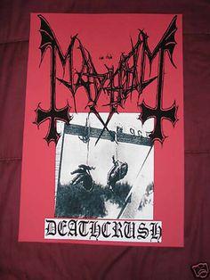 Mayhem Deathcrush Poster Death Metal Black Venom Marduk   eBay