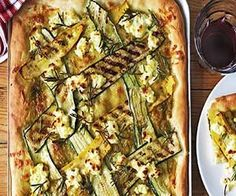 Low Carb Chargrilled Zucchini And Ricotta Pizza   Low Carb Magazine