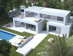 Seasites House II - seasites - timeless architecture with mediterranean soul . Seasites House II – seasites – timeless architecture with mediterranean soul 3 bedrooms and Architectural Design House Plans, Modern Architecture House, Mediterranean Architecture, Amazing Architecture, Architecture Design, Concept Architecture, Residential Architecture, Container House Plans, Container House Design