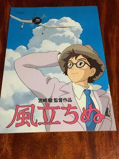 "Anime ""THE WIND RISES"" Studio Ghibli Hayao Miyazaki Movie Book(Program) F/S #StudioGhibli Wind Rises, Kiki Delivery, Studio Ghibli Movies, Hayao Miyazaki, Art Inspo, Japanese, Entertaining, Books, Libros"