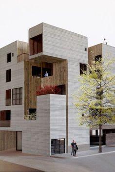 Volume: ce bâtiment est formé par la juxtaposition de plusieurs volumes (prismes rectangulaires).