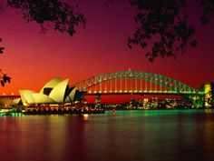 Opera House and Harbour Bridge at Sunset, from Macquaries Point, Sydney, New South Wales, Australia Australia Photos, Sydney Australia, What A Wonderful World, Beautiful World, Vacation Destinations, Dream Vacations, Oh The Places You'll Go, Places To Travel, Australia Wallpaper
