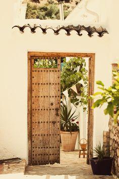 old door, not sure where yet! Pool wall to garden?