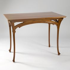 A French Art Nouveau writing table by Henri Sauvage. This table was created with the curvilinear design that this architect is famous for. Art Nouveau Table by Henri Sauvage thumbnail 1 Art Nouveau Table by Henri Sauvage Furniture Styles, Table Furniture, Vintage Furniture, Modern Furniture, Furniture Design, Henri Sauvage, Chest Of Drawers Design, Drawer Design, Wood Table Design