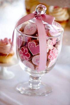♔ Fancy cookies in a jar Cookies Cupcake, Cupcakes, Fancy Cookies, Iced Cookies, Cute Cookies, Royal Icing Cookies, Cookies Et Biscuits, Sugar Cookies, Mini Cookies
