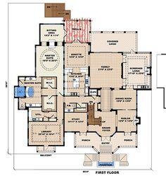 Beach Style House Plan - 4 Beds 4.5 Baths 13717 Sq/Ft Plan #27-480 Floor Plan - Main Floor Plan - Houseplans.com