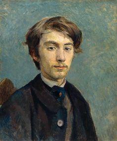Retrato de Émile Bernard (1886) Toulouse-Lautrec - National Gallery, Londres.   Emile Bernard foi um colega de estudo de Toulouse-Lautrec com uma reputação de audácia artística.   Entrou no ateliê de Cormon em Paris em 1885, mas foi expulso na primavera de 1886.