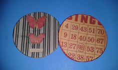 hand made coaster or decoration by HomespunPinup on Etsy, $3.00