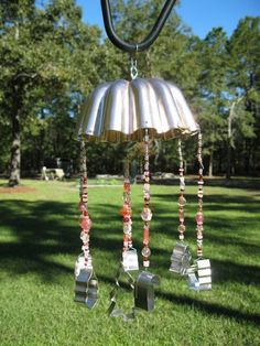 Copper jello mold windchime with Christmas by patchesandpearls, $25.00
