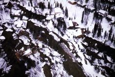 Alaska Earthquake March 27, 1964. The Turnagain Heights landslide in Anchorage occurred along a steep bluff fronting Knik Arm on Cook Inlet....