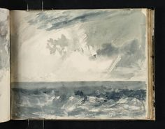 Turner (1775‑1851). Sea and Sky From Vale of Heathfield Sketchbook circa 1813-1818 Watercolour on paper