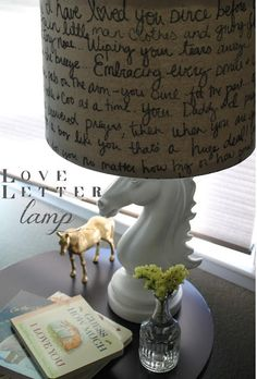 DIY quote lampshade.. can do lines from French poetry or favorite French movie quotes or inspiration #www.frenchriviera.com