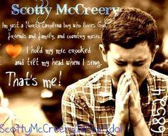 Scotty McCreery :) he is the same guy he has been