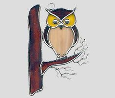 Stained Glass Art by Glass Illusions - Bird Hangings More #StainedGlassOwl