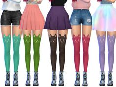 10 adorable colorful cat stockings!  Found in TSR Category 'Sims 4 Female Everyday'